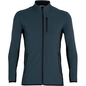 Icebreaker Descender LS Zip Mid Layer Fleece Men, serene blue